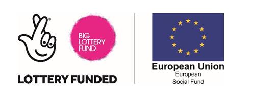 Big Lottery logo plus European Social Fund logo