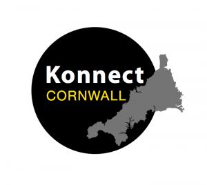 Circular-black Konnect Cornwall logo