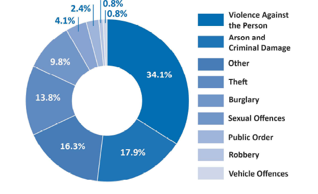 Primary crimes reported by clients in the Victim Empowerment Model